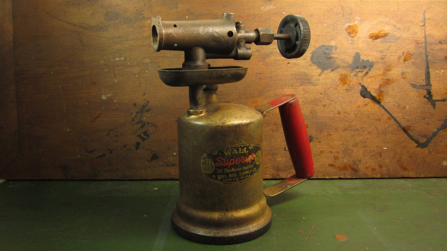 antique industrial gas blow torch industrial steam punk decor