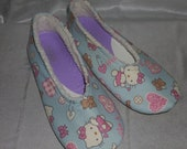 Hello Kitty Faux Lambs wool House Slippers Size 8
