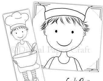 Cooking Stamp, Chef Stamp, Digital Stamp, Instant download