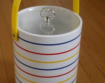 BOGO--Vintage Ice Bucket/Primary Color Stripes