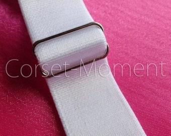 12 x Silver Tone Metal Garter Belt Suspender Adjuster/Slide Corset Supplies One Dozen