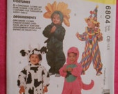 McCalls 6804,  costume, Barney, cow, flower, clown, size: 1, 2, 3