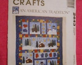 McCalls 2443, Christmas decorations, holidays, snowmen, quilt, wallhanging