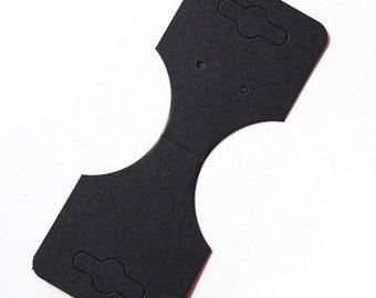 High Qualty Card Stock..Blank Black Fold Over Necklace Bracelet Ponytail Holder Earrings Hanging Card 50pcs