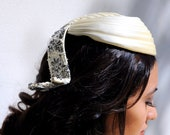 Vintage Wedding Hat Bonwit Teller Designer Jeweled and Beaded