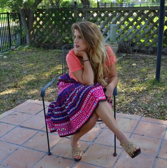 Fabulous vintage Bohemian Ethnic convertible maxi skirt/dress