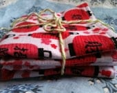 baby burp cloths set of 2 red black white asian inspired cotton flannel lantern print great baby shower gift for boy or girl