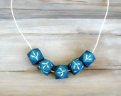 Wooden  geometric Necklace