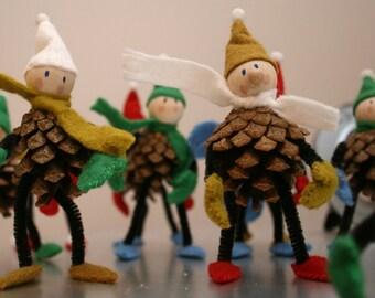 Cheeky Christmas Pinecone Winter Gnomes