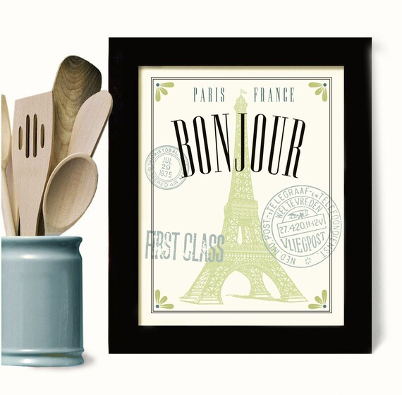 French decor wall art for kitchen decor cooking bonjour old for French kitchen artwork