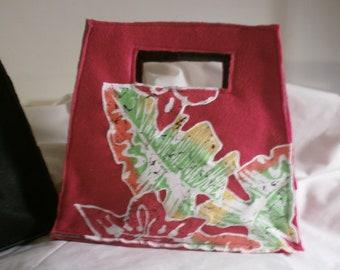 Handbag Red Felt