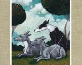 "Canes Venatici the Hunting Dogs - Constellation Fauna Series Fine Art Print 11"" x 14"""