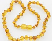 SALE!     Honey Baltic Amber Baby Teething Necklace