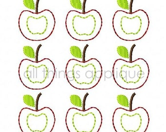 Bunch of Apples Applique Design - 3 Sizes - Back to School Applique - INSTANT DOWNLOAD