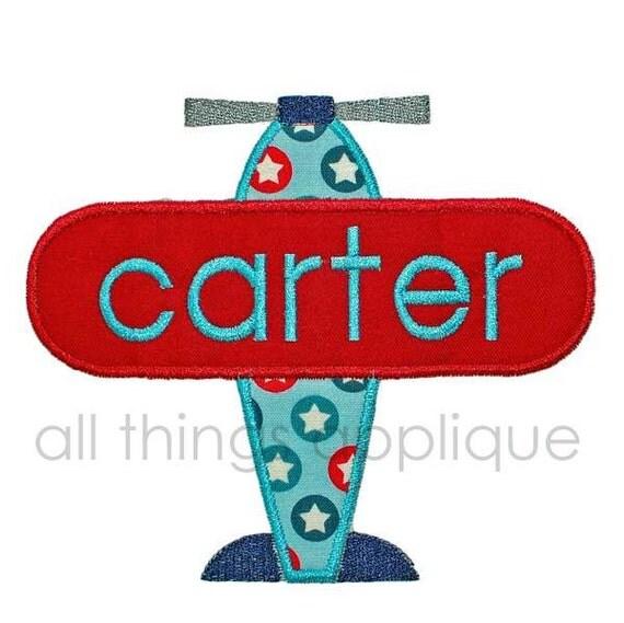 Embroidery Design - Airplane Applique Design - Boy - Transportation - INSTANT DOWNLOAD