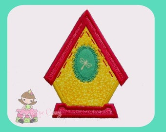Bird house Applique design