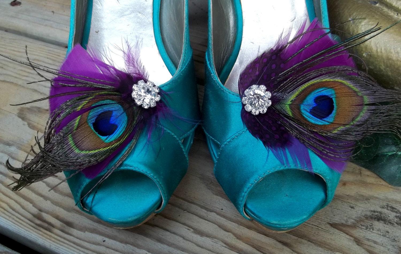 Wedding Shoe Clips Bridal Shoe Clips Purple Plum Shoe