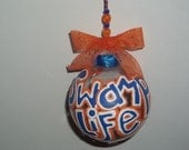 Swamp Life christmas ornament university of florida uf Gators orange and blue gator decorations