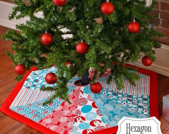 Tree Skirt Pattern, Hexagon, Nite Before Christmas Collection, Quilt Pattern