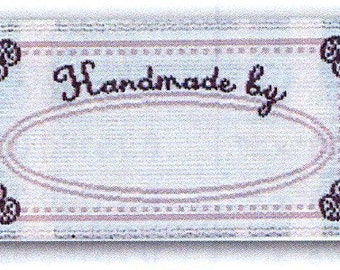 Sewing Labels, Handmade by, Quilting Labels, Sewing Labels, Love Labels, BL-LL2557