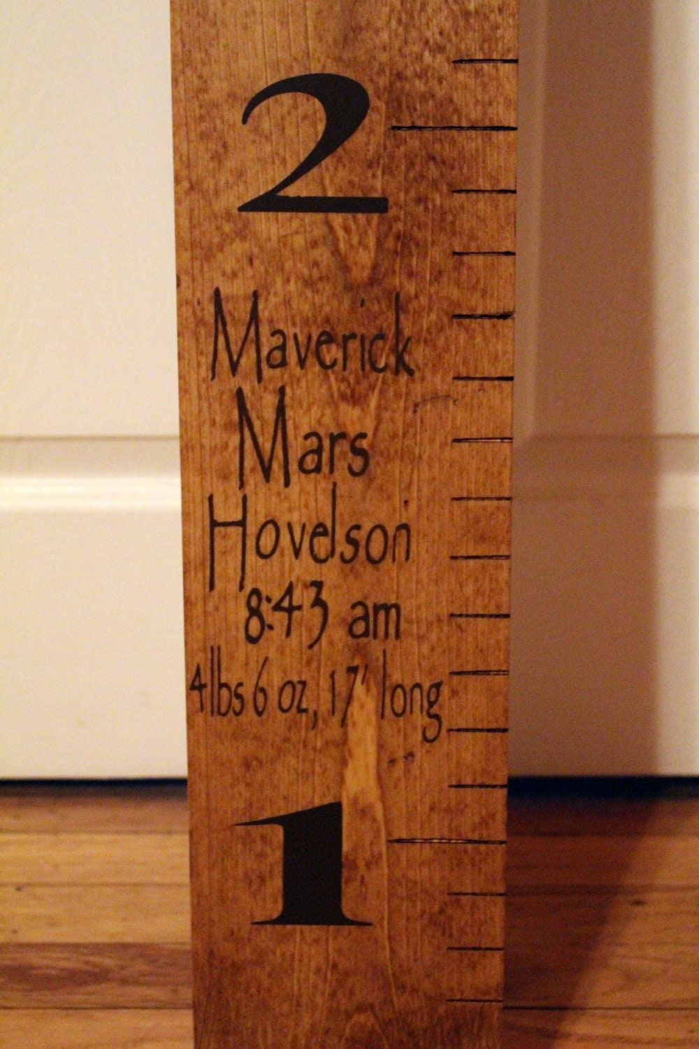 Wooden Growth Chart Child Measurements Ruler Oversized