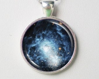 Galaxy Necklace - I Zwicky 18,  Astronomy Necklace - Galaxy Series