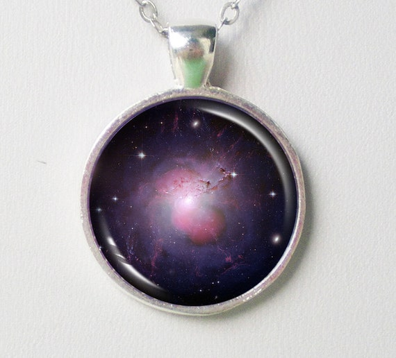 Galaxy Necklace - galaxy NGC 1275,  Astronomy Necklace - Galaxy Series