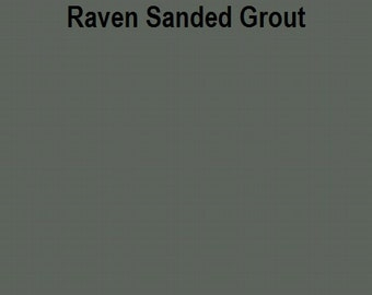 Mosaic Grout Raven SANDED One Pound