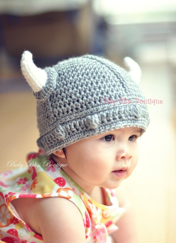 The Viking Hat - 12M to 24M (approx 18 - 19 inches) - Icelandic Vikings - Made to Order