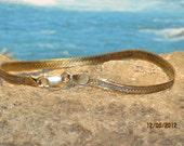 Unusual sterling silver ladies / womens reversible bracelet