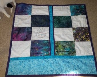 Kimberley's Birthday Personal Car/Train/Plane Lap Quilt ..... Sample Only