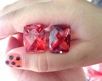 One beautiful pairs orange sapphire drilled