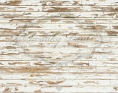 NEW 5ft x 5ft Vinyl Photography Backdrop / White Chipping Wood