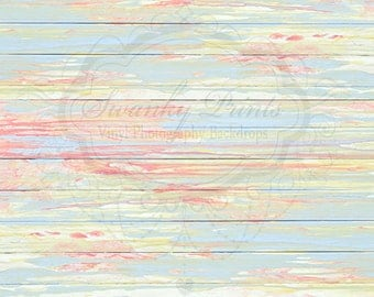 10ft x 7ft VINYL Photography Backdrop  / Pastel Splashed Paint