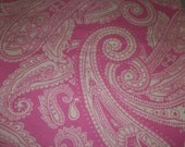 Fat Quarter of Pink Paisley Flannel