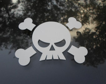 Skull and Crossbones Decal - Choose any color