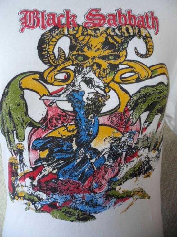 Black Sabbath Shirts Vintage Vintage T-shirt Black Sabbath