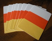 SALE 25% OFF - Halloween Candy Corn Blank Card set of 8 w/ envelopes