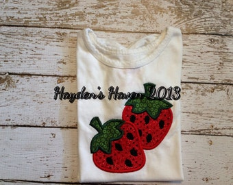 Girl's strawberry t-shirt
