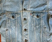 Vintage Levi's Denim Trucker Jacket Made in USA