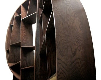 BOOKCASE oak bent playwood,