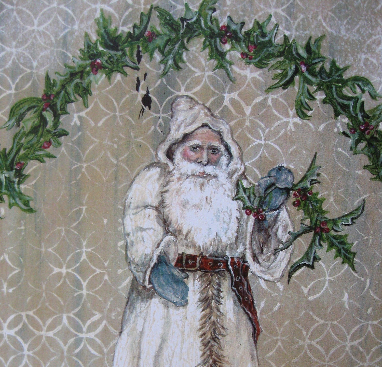 Santa Old World Father Christmas Vintage by AKADecorativeArt
