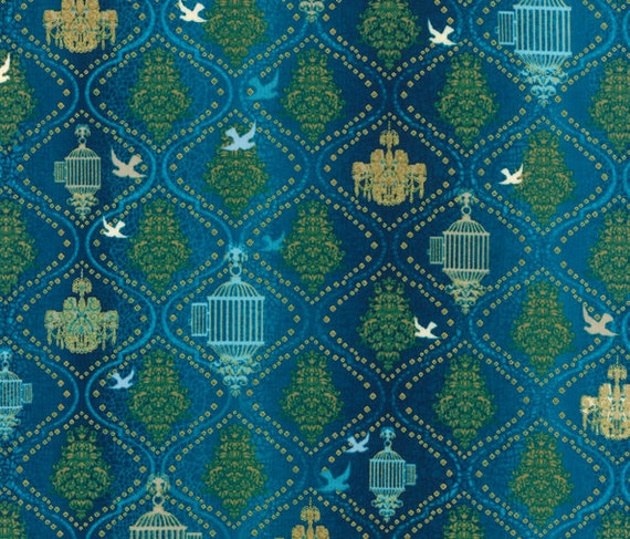 SALE - Hoffman - Birds & Blossoms by Punch Studio