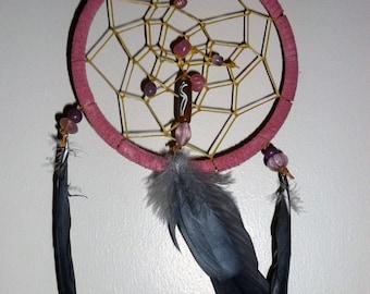 Pink African Grey Parrot Dream Catcher