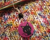 Black Halloween Kitty - Single Stitch Marker
