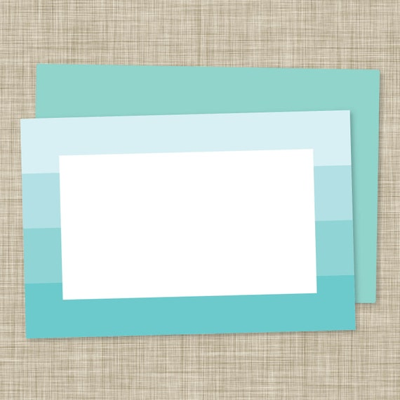 A6 Blue Ombre Notecards (12 count)