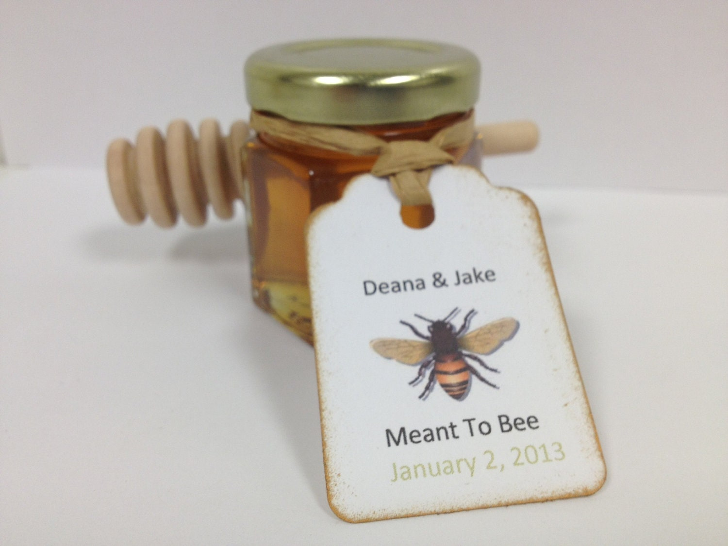 70qty meant to bee honey wedding shower favors with dipper for Honey bee wedding favors