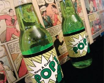 Comic Book Superhero Bottle Labels
