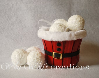 Snowball Ornaments - Pack of 4
