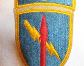 3rd Missile Command Shoulder Patch with attached tab.